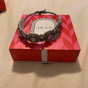 Stella and Dot Chiara Embroidered Bracelet